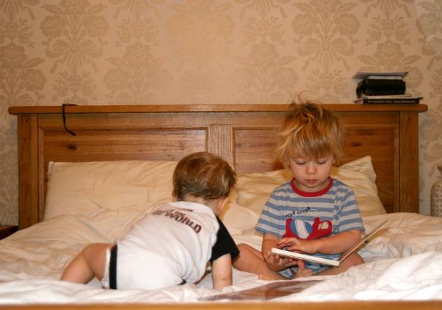 reading morning boys