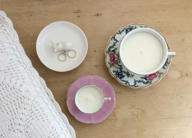 teacup candle tutorial